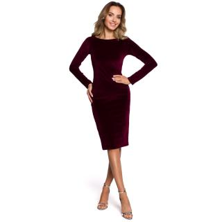 Made Of Emotion Womans Dress M565 Maroon dámské Red XL