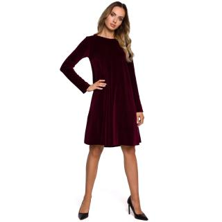 Made Of Emotion Womans Dress M566 Maroon dámské Red L