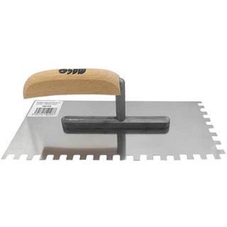 MAGG Hladítko nerezové 270x130 mm zub 4 mm dřevo