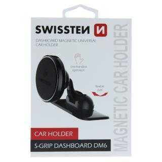 Magnetický držák do auta Swissten S-Grip Dashboard DM6, černý