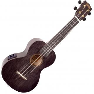 Mahalo Electric-Acoustic Concert Ukulele Transparent Black  #928494 Concert Ukulele