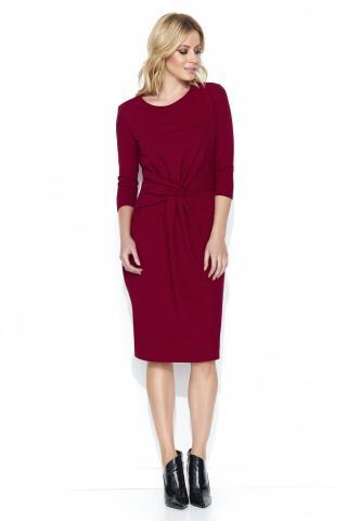 Makadamia Womans Dress M462 Maroon dámské Red 36