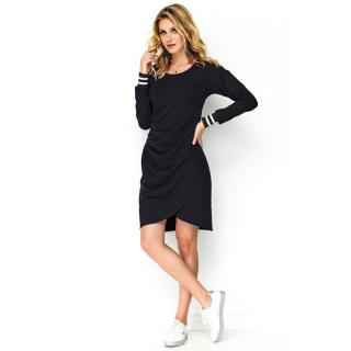 Makadamia Womans Dress M496 dámské Black 38