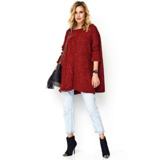 Makadamia Womans Sweater Mak S82 dámské Beetroot One size