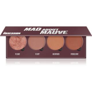 Makeup Obsession Mad About Mauve paleta tvářenek 4 x 2,50 g dámské 4 x 2,50 g