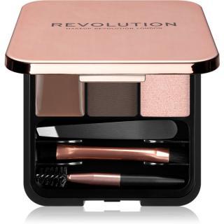 Makeup Revolution Brow Sculpt Kit sada pro dokonalé obočí odstín Dark 2,2 g dámské 2,2 g
