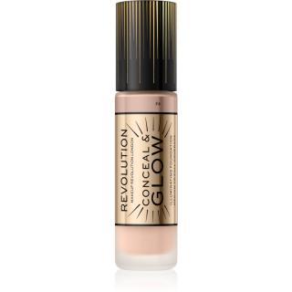 Makeup Revolution Conceal & Glow rozjasňující make-up pro přirozený vzhled odstín F4 23 ml dámské 23 ml