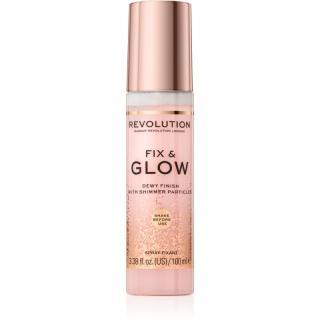 Makeup Revolution Fix & Glow fixační sprej na make-up s hydratačním účinkem 100 ml dámské 100 ml