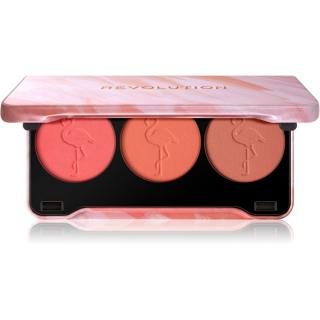 Makeup Revolution Flamingo paleta tvářenek 22 g dámské 22 g