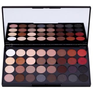 Makeup Revolution Flawless 2 paleta očních stínů se zrcátkem 20 g dámské 20 g