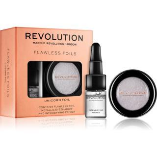 Makeup Revolution Flawless Foils metalické oční stíny s podkladovou bází odstín Unicorn Foil 2 g   2 ml dámské 2 ml