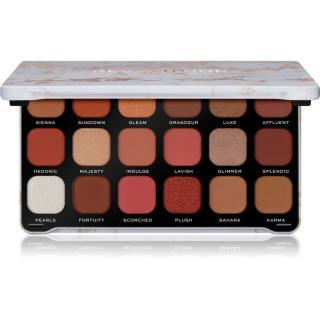 Makeup Revolution Forever Flawless paleta očních stínů odstín Decadent 18 x 1,1 g dámské 18 x 1,1 g