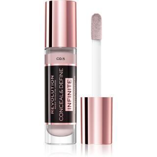 Makeup Revolution Infinite krycí korektor pro redukci nedokonalostí velké balení odstín C0.5 9 ml dámské 9 ml