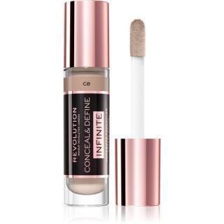 Makeup Revolution Infinite krycí korektor pro redukci nedokonalostí velké balení odstín C8 9 ml dámské 9 ml