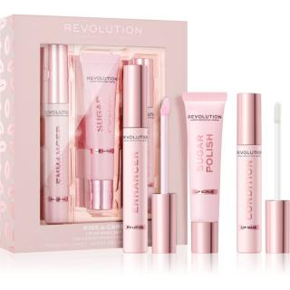 Makeup Revolution Kiss & Care sada na rty dámské
