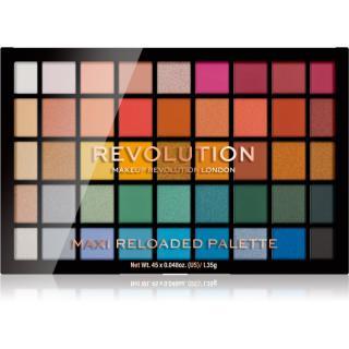 Makeup Revolution Maxi Reloaded Palette paletka pudrových očních stínů odstín Big Shot 45x1,35 g dámské 45x1,35 g