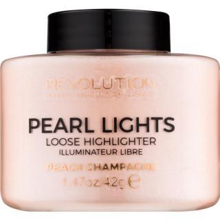Makeup Revolution Pearl Lights sypký rozjasňovač odstín Peach Champagne 35 g dámské 35 g