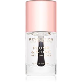 Makeup Revolution Plump & Shine lak na nehty s gelovým efektem průsvitný 10 ml dámské 10 ml