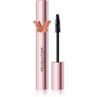 Makeup Revolution Precious Glamour Butterfly objemová a prodlužující řasenka odstín Black 8 ml dámské 8 ml