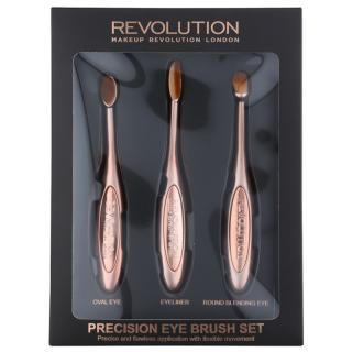 Makeup Revolution Pro Precision Brush sada štětců na oči 3 ks dámské 3 ks
