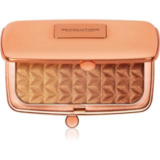 Makeup Revolution Renaissance Illuminate paleta rozjasňovačů odstín Blissful Bronze 14 g dámské 14 g