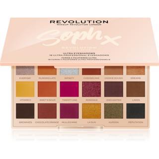 Makeup Revolution Soph X Extra Spice paleta očních stínů se zrcátkem odstín Extra Spice 18 x 0,8 g dámské 0,8 g