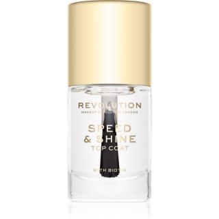 Makeup Revolution Speed & Shine rychleschnoucí lak na nehty průsvitný 10 ml dámské 10 ml