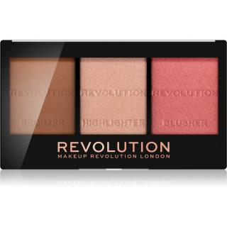 Makeup Revolution Ultra Sculpt & Contour paleta na kontury obličeje odstín Ultra Fair C01 11 g dámské 11 g