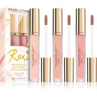 Makeup Revolution X Roxxsaurus sada na rty Ride or Die odstín dámské 3 ks