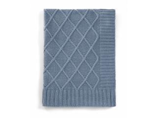 MAMAS & PAPAS Pletená deka modrý denim modrá