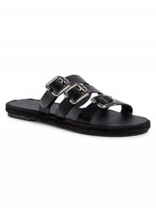 Manebi Espadrilky Leather Sandals S 2.1 Y0 Černá dámské 36