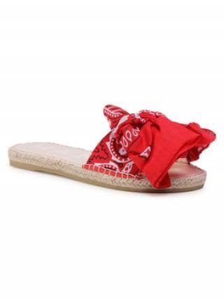 Manebi Espadrilky Sandals With Bow F 9.4 J0 Červená dámské 36