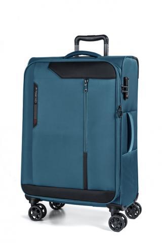March Látkový cestovní kufr Stardust 70/83 l - modrá