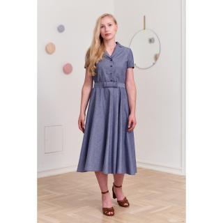 Marie Zélie Womans Dress Indis Navy Blue dámské 38