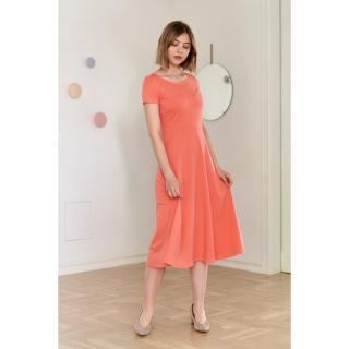 Marie Zélie Womans Dress Margarita Peach dámské pmarańczowy 34