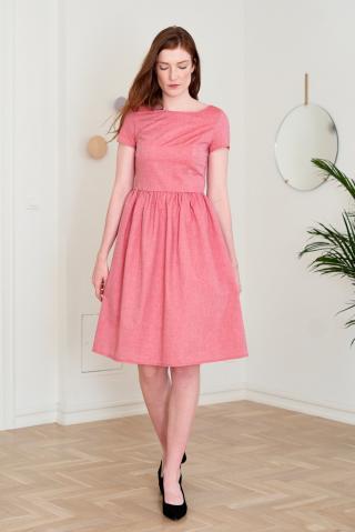 Marie Zélie Womans Dress Melania dámské Red 40
