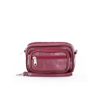 Maroon leather men´s belt bag Other One size