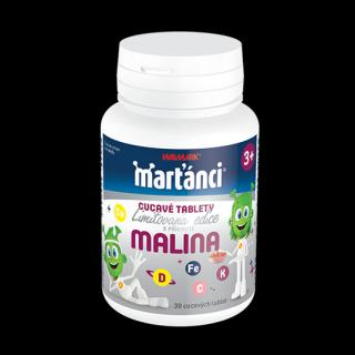 Marťánci cucavé tablety příchuť malina 30 cucavých tablet