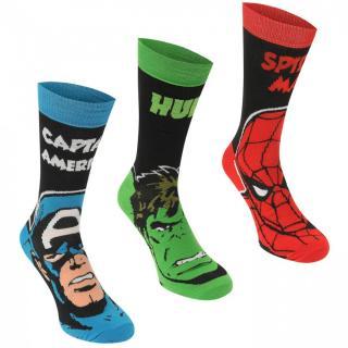 Marvel 3 Pack Crew Socks Mens pánské Marvel | Other Mens 7-11