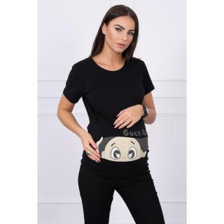 Maternity blouse Guck black dámské Neurčeno M-L-XL