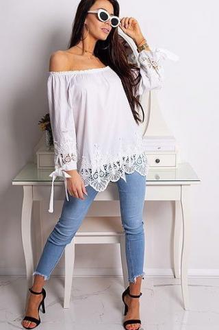 MATILDE womens blouse white RY0673 dámské Neurčeno One size
