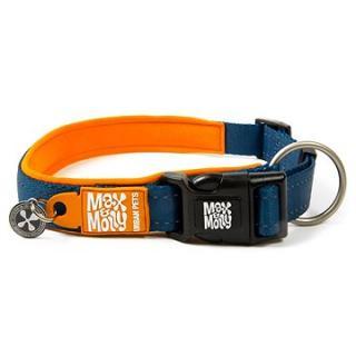 Max & Molly Smart ID obojek polostahovací, Matrix Orange, Velikost L