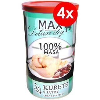 MAX deluxe 3/4 kuřete s játry 1200 g, 4 ks