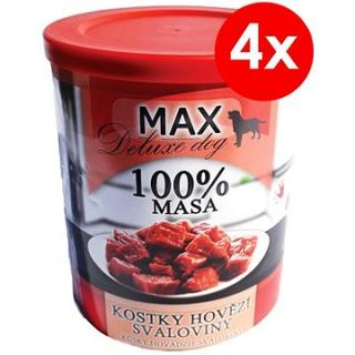 MAX deluxe kostky hovězí svaloviny 800 g, 4 ks