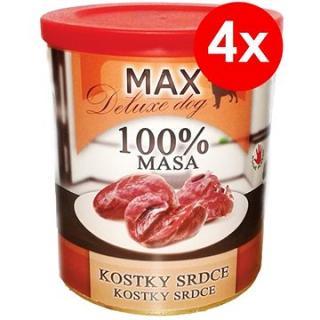 MAX deluxe kostky srdce 800 g, 4 ks