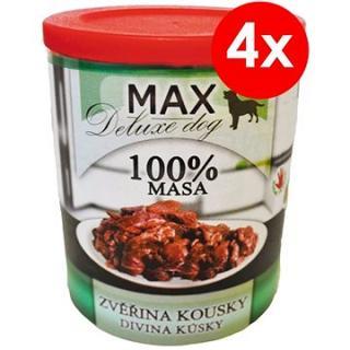 MAX deluxe zvěřina kousky 800 g, 4 ks
