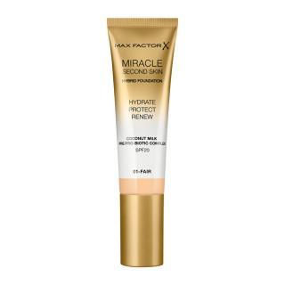 Max Factor Pečující make-up pro přirozený vzhled pleti Miracle Touch Second Skin SPF 20  30 ml 07 Neutral Medium dámské