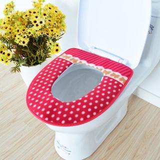 Měkký potah na záchodové prkénko se vzorem Barva: červená