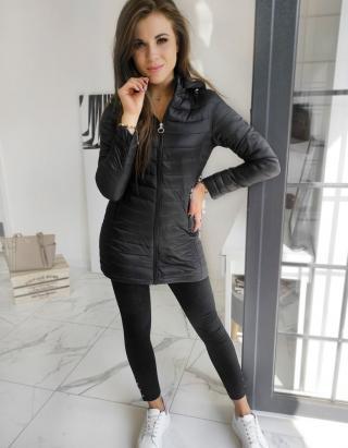 MELODI womens quilted coat black TY1529 dámské Neurčeno XL