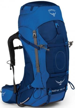 Mens backpack Osprey Aether AG 60 NEPTUNE_BLUE 63 Litrů